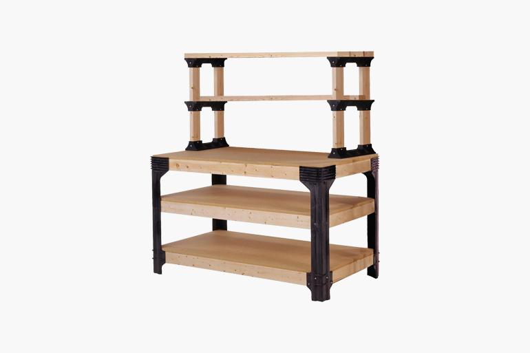 2×4 Basics Workbench and Shelving Storage System